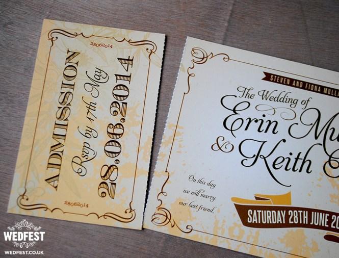 Vintage Ticket Wedding Invites Wedfest