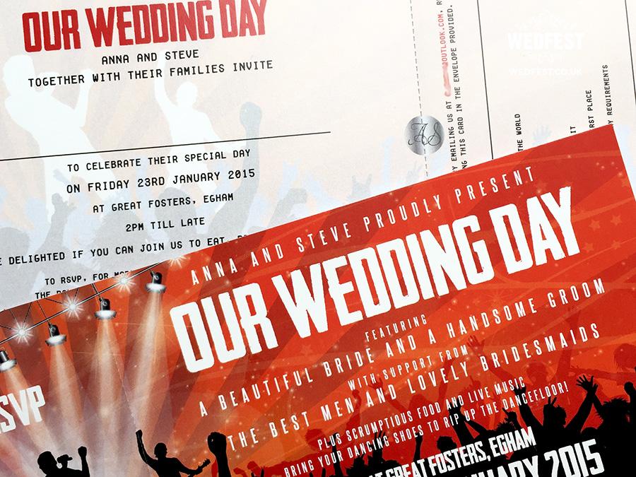 Concert Themed Wedding  WEDFEST