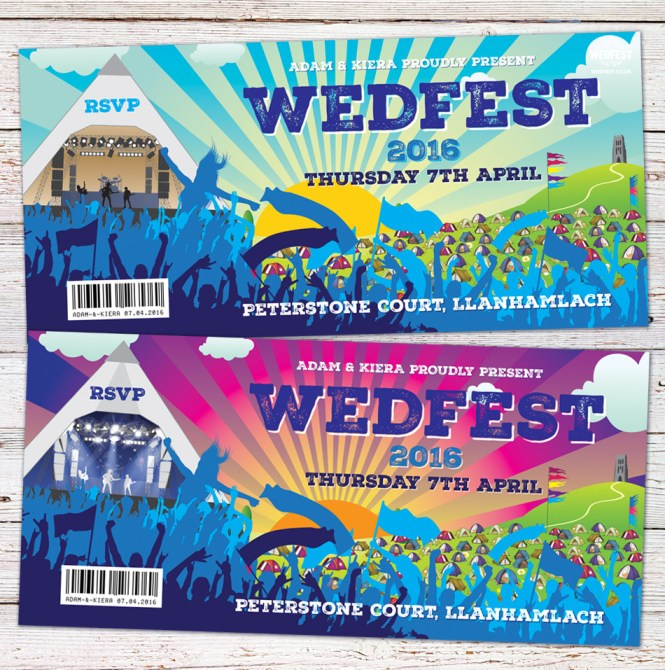 Boho Wedfest Festival Wedding Invitations