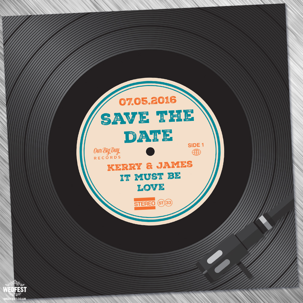 Vinyl Record Wedding Invites Save The Dates WEDFEST