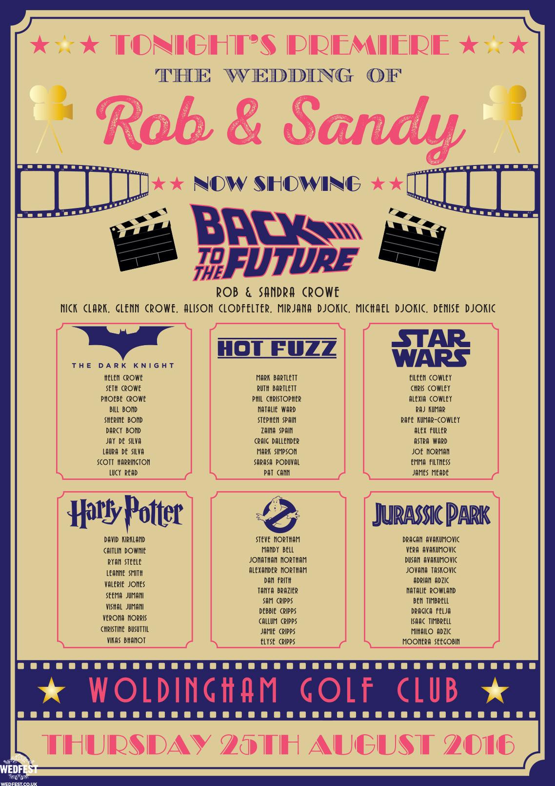 Cinema and Movie themed Wedding Stationery  WEDFEST