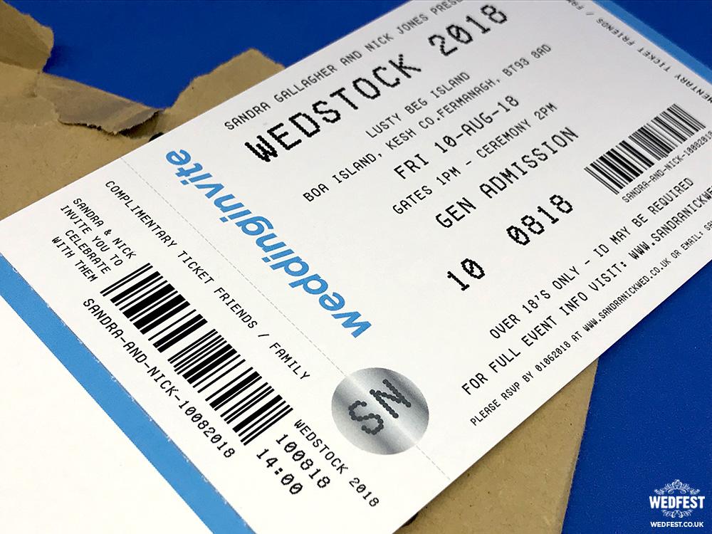 Concert Ticket Invitations  WEDFEST