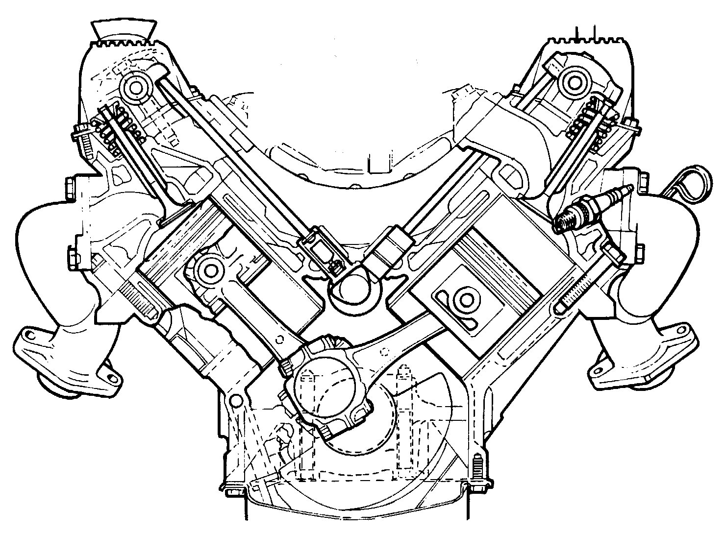 V6 Engine Diagram Cutaway