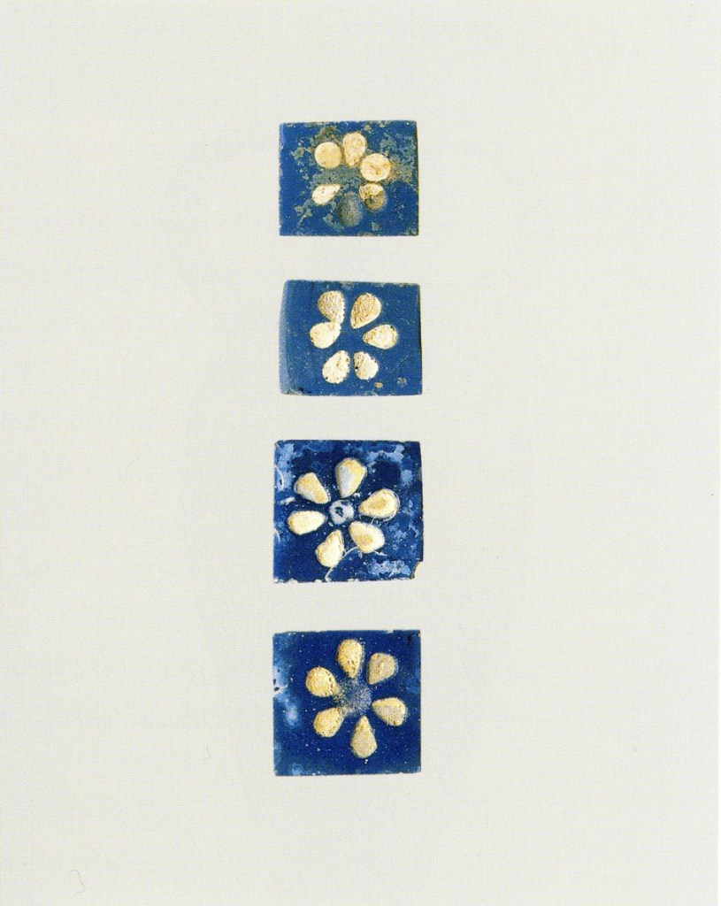 Glass furniture inlays, 9th-8th cent. BCE (MET 62.269.15a–d)