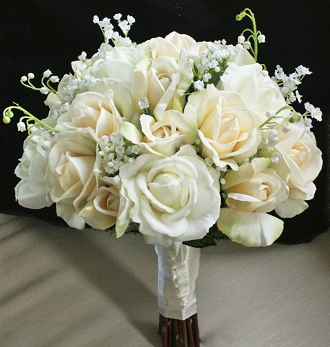 Orange Fall Peonies Wallpaper Natural Touch Open Off White Roses Bouquet
