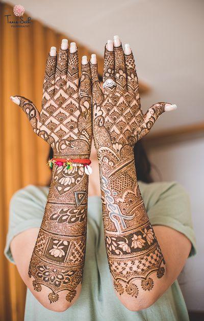 Mehndi Design For Bridal Collection : Full hand uroos mehndi designs stylecry bridal dresses women