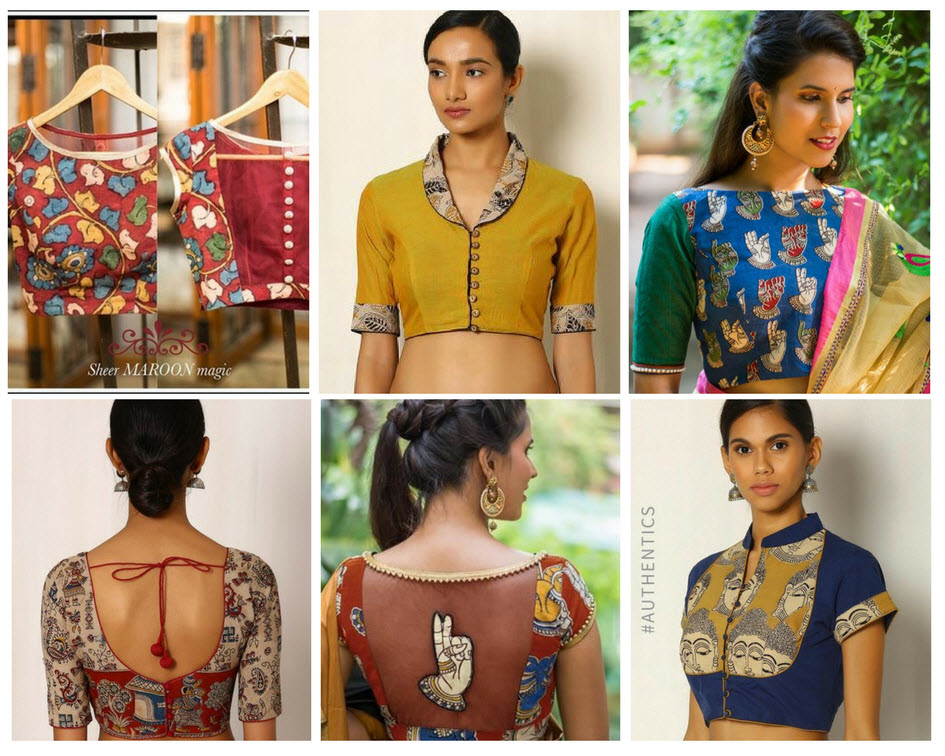 How to Stitch Kalamkari blouses - 30+ Kalamkari Blouse Designs Collections 2018