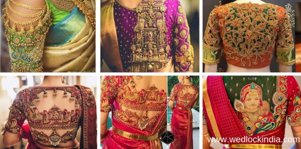 maggam work designs on blouse 2019