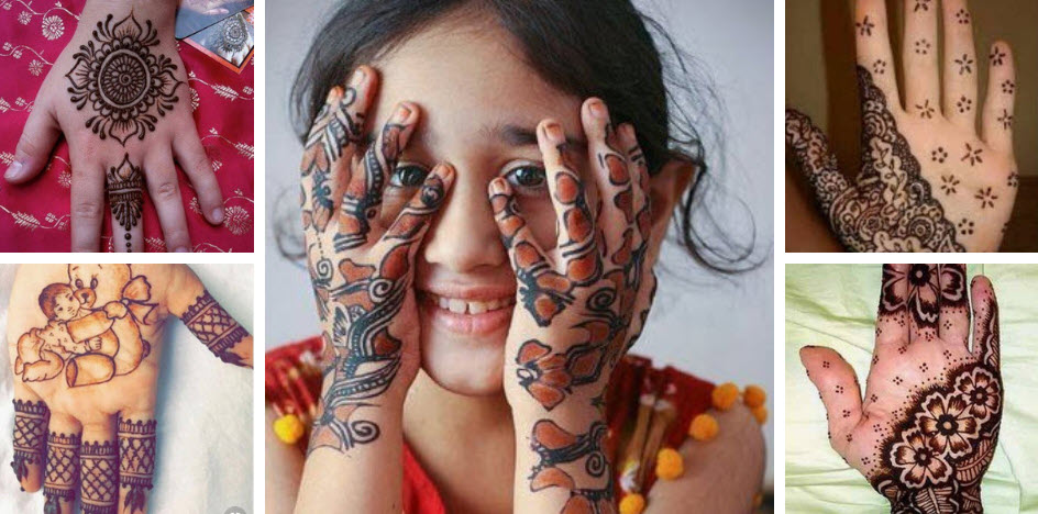 15+ Simple and Easy Latest Mehndi Designs for Kids 2019
