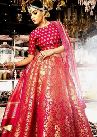 Red Grand Lehenga Blouse