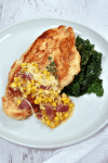 Chicken Breast with Creamy Corn and Bacon| WednesdayNightCafe.com