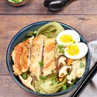 Chicken and Vegetable Ramen Noodle Soup