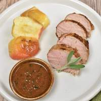 Pork Tenderloin with Apple Cider Pan Sauce