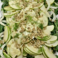Apple Fennel Salad with Apple Vinaigrette
