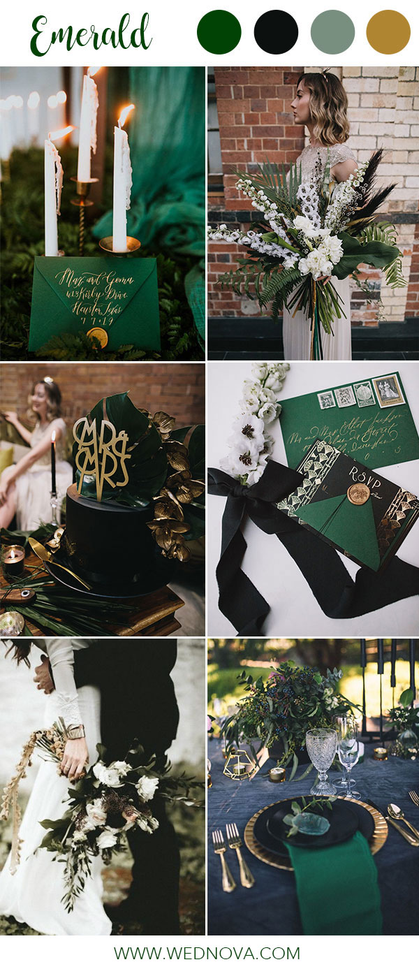 14 Best Emerald Wedding Color Palette Ideas to Swoon Over