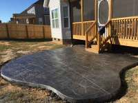 Brand New Concrete Patio Just in Time for Spring