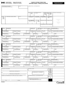 Canada Customs Invoice