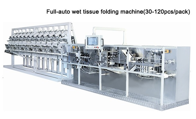 Full-Auto Wet Tissue Paper Folding Packing Production Line 1