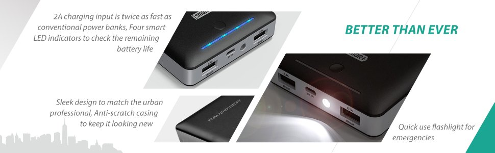RAVPower bank design