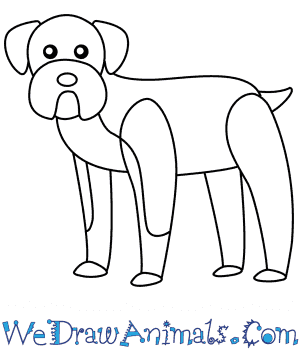 How To Draw A Simple Boxer Dog For Kids