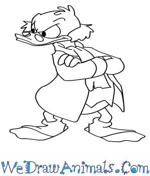 How to Draw Scrooge Mcduck