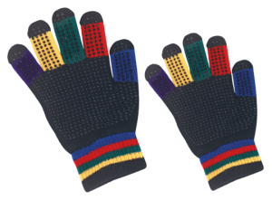 magic gloves regenboog