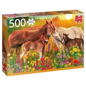 Jumbo Puzzel Paarden in de wei 500pcs Premium Collection