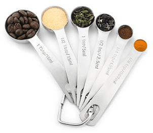 Set of 6 1EasyLife Stainless Steel Measuring Spoons