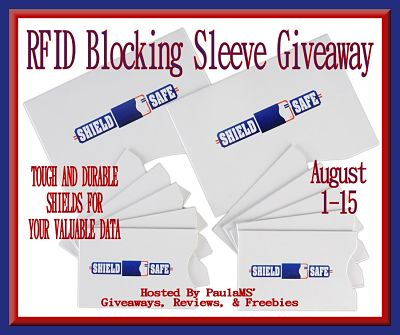 RFID Blocking Sleeve Giveaway