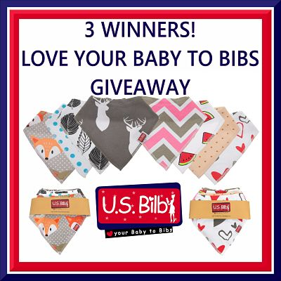 3 Winners! Love Your Baby To Bibs #Giveaway Ends July 17th