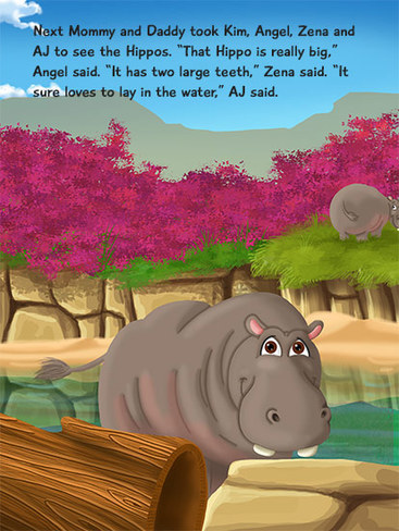 KD Novelties A Day at the Zoo Personalized Children's Book Page