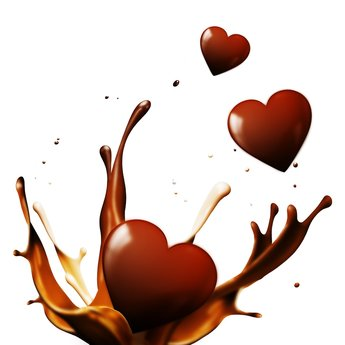 Chocolate Hearts Splash