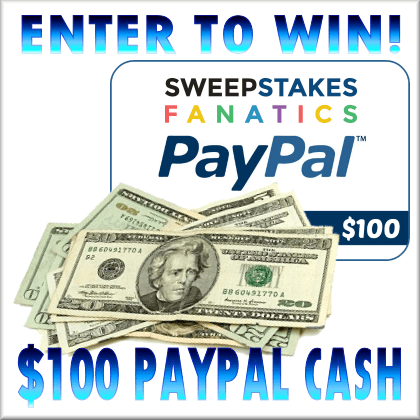 Sweepstakes Fanatics $100 PayPal Giveaway Ends 2/5 Worldwide