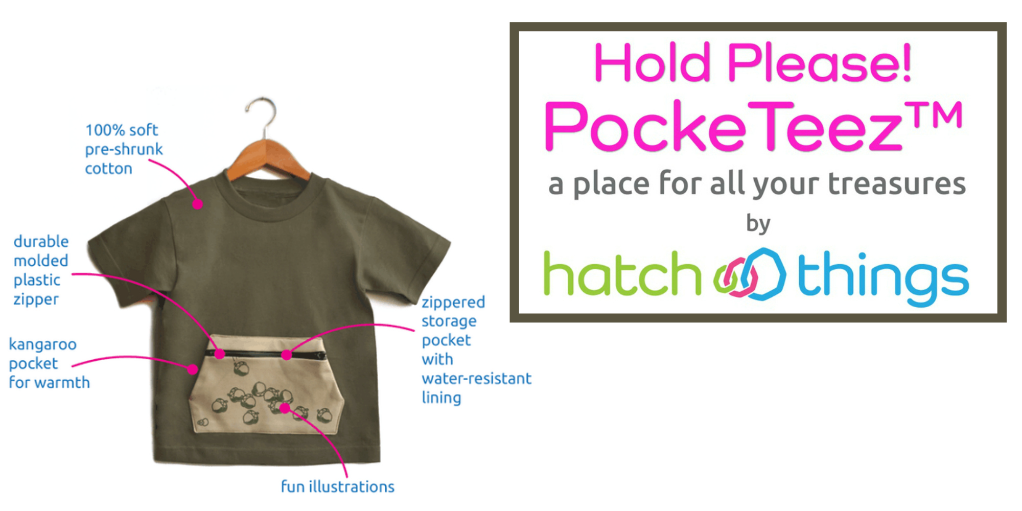 Hatch Things' PockeTeez in US Japan Fam's Unique Gift Guide & Giveaway