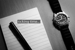 ticking time and watch