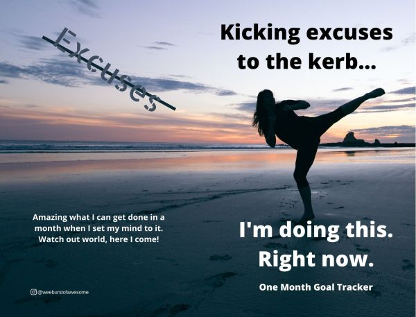 Full Cover for Kicking Excuses To The Kerb Goal Tracker Book
