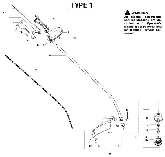 Weedeater Featherlite FL20 Parts