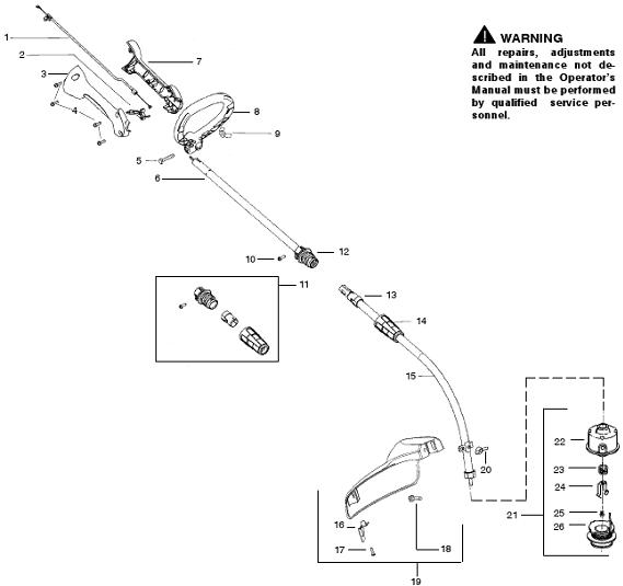 Weedeater Featherlite FL25C Parts