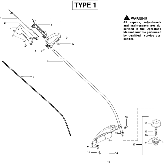 Weedeater Featherlite FL26 Parts