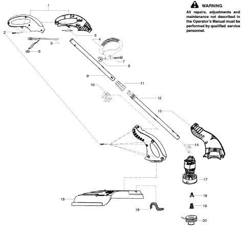 Weedeater RTE113C Parts