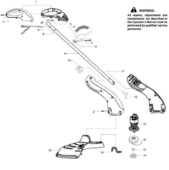 Weedeater RTE115 Parts
