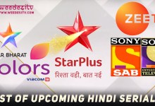 List of Upcoming Hindi Serials 2019, 2020 by Weedesitv