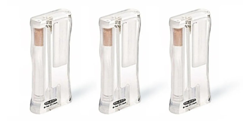 Clear one hitter dugout box in see-through acrylic from RYOT.