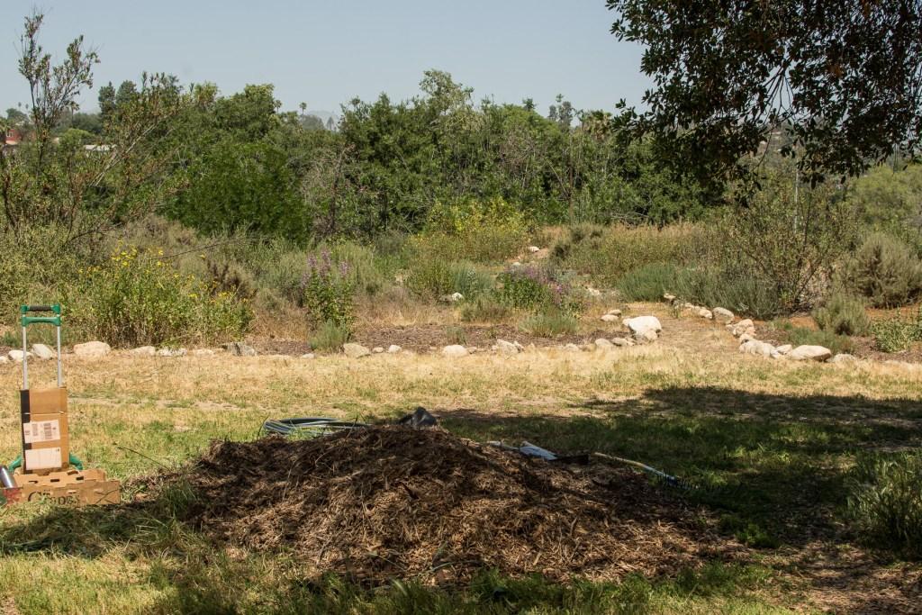 mulch pile