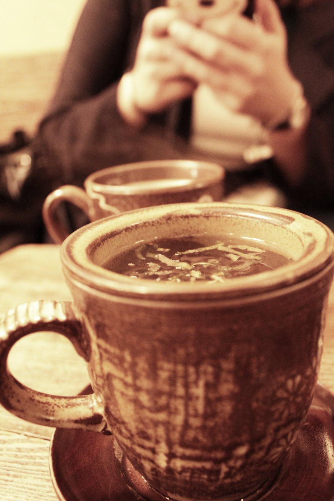 Having a tea break at Insadong