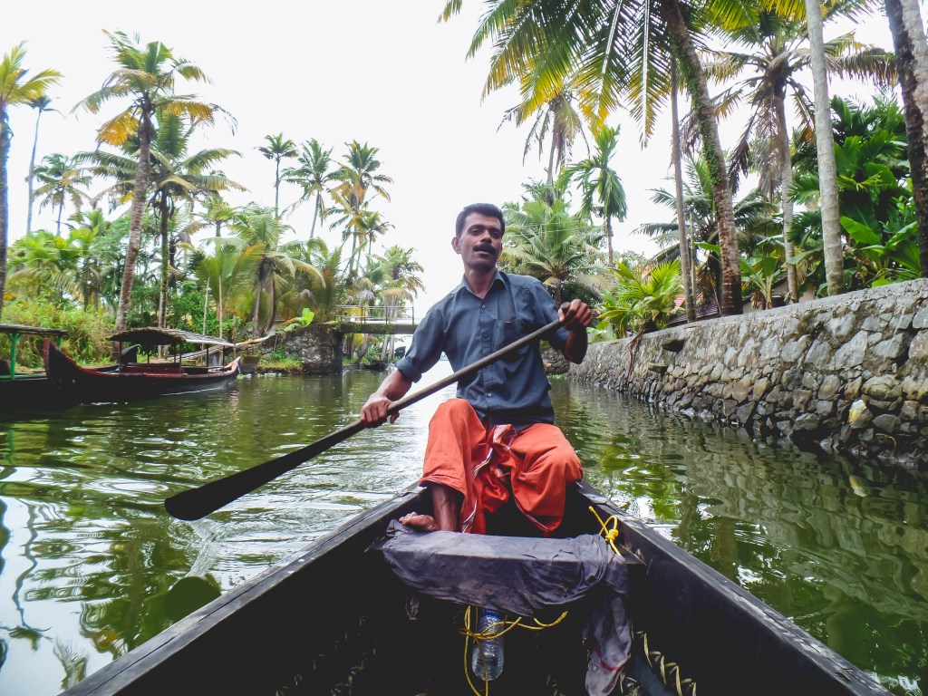 Kerala Backwaters Canoe solo female traveller budget travel