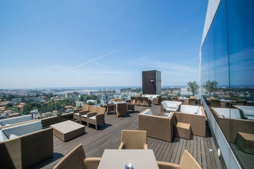 Terrase du VIP Lounge - Hotel Porto Palacio - Porto