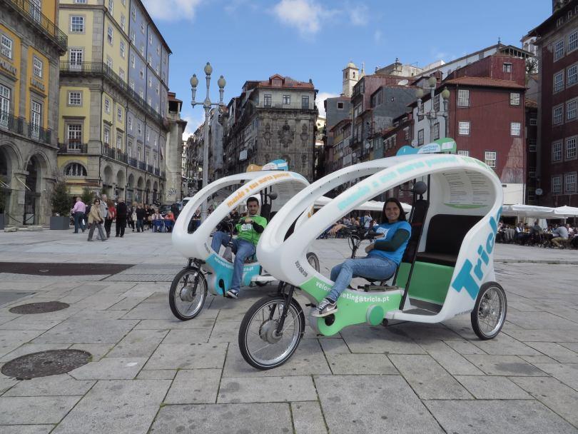Tricycles en location de chez Biclas e Triclas - Porto