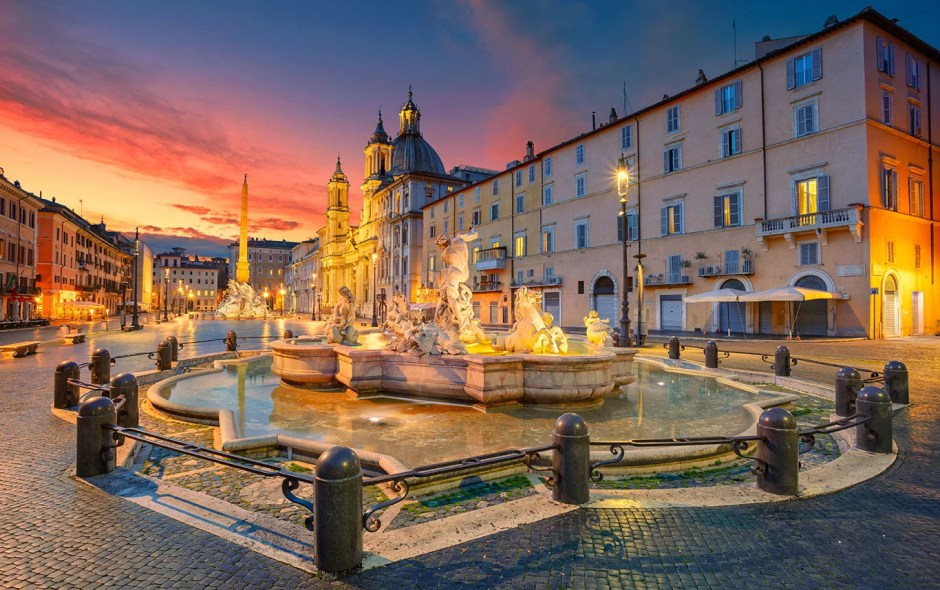 Italie-Rome-piazza-navona week-end romantique amoureux