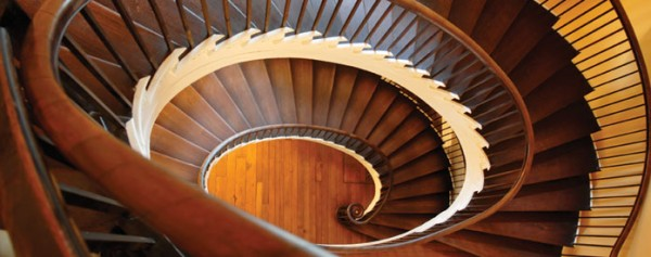 Highlight of the house: the elliptical spiral staircase